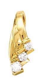 2.25 carat G VS1 three stone pendant slide gold