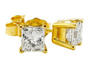2 carat princess cut DIAMOND stud earrings