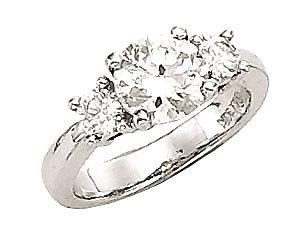 3 stone ring G VS1 1.5 carat diamond engagement