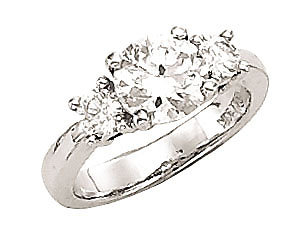 ENGAGEMENT G VS1 1.5 carat diamond ring 3 stone