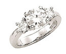 ENGAGEMENT G VS1 1.5 carat diamond ring 3 stone