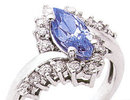 Diamond ring 3.60 CT MARQUISE BLUE SAPPHIRE