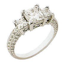 4.0 ct INFINITY diamond engagement ring three