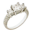 4.0 ct INFINITY diamond engagement ring three