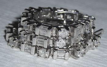3 carats diamond tennis bracelet white gold
