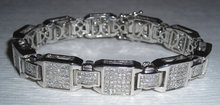 12 carats DIAMOND TENNIS BRACELET princess cut
