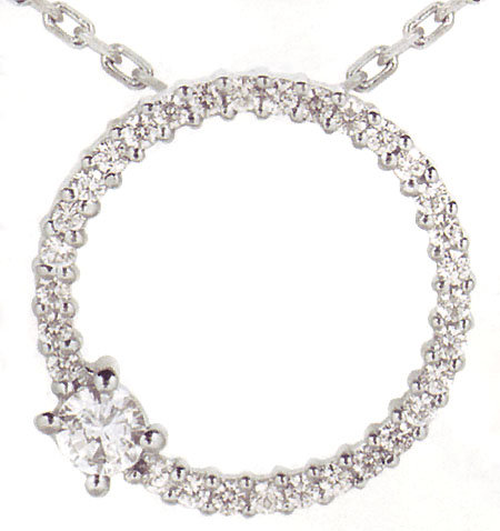 1.37 carats solitaire & Circle of Love Diamond