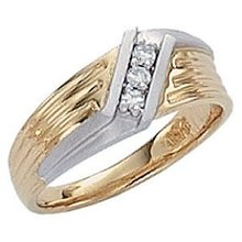 Diamonds 0.60 ct G VS1 diamond ring two tone white gold