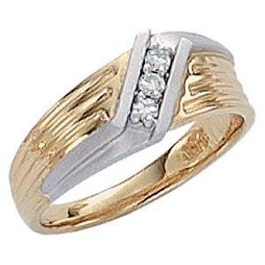 Diamonds 0.60 ct G VS1 diamond ring two tone white gold
