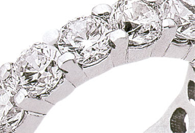 Diamonds 6.0 Ct ETERNITY natural diamond WEDDING BAND !