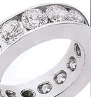 3.75 carat ROUND BRILLIANT DIAMONDS wedding band new