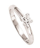 2 carat PRINCESS CUT diamond ring SOLITAIRE solitaire