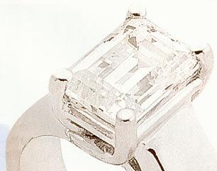 0.5 carats diamond ring emerald cut jewelry district NY