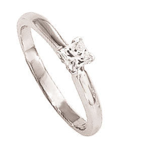 1.5 carat PRINCESS CUT diamond engagement ring white