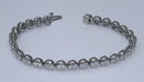 2.75 carats DIAMOND TENNIS BRACELET VS full bezel new