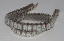 16.5 carats emerald cut DIAMOND TENNIS BRACELET VVS
