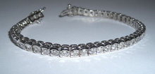 6.86 carat DIAMOND TENNIS BRACELET VS jewelry hand gold