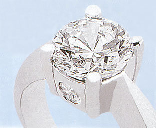0.89 ct DIAMOND RING SOLITAIRE THREE STONE ENGAGEMENT