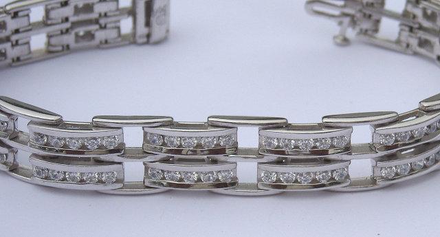10.5 carats DIAMOND TENNIS BRACELET jewelry antique