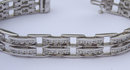 10.5 carats DIAMOND TENNIS BRACELET jewelry antique