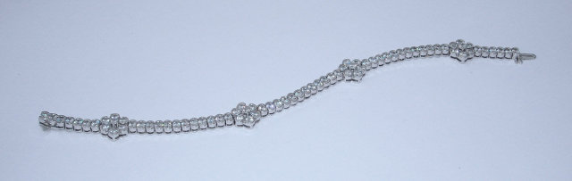 12 carats DIAMOND TENNIS BRACELET VS jewelry FLORAL