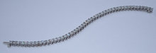 14 carats DIAMOND TENNIS BRACELET jewelry antique style