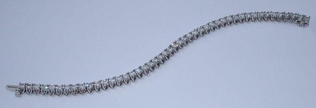 14 carats DIAMOND TENNIS BRACELET jewelry antique style