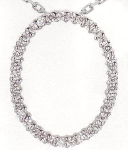 0.70 carats Oval shape diamond pendant gold necklace wi