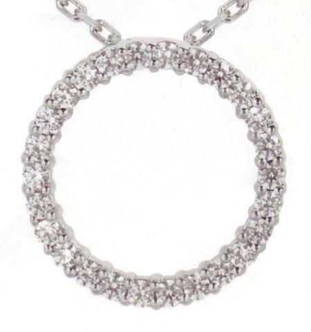 """1.77 carats CIRCLE OF LIFE 2.4"""" diameter diamond pendan"""