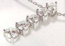 2.5 carats large big journey five 5 DIAMOND pendant necklace