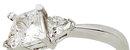 1.81 carat diamond princess cut engagement ring NEW