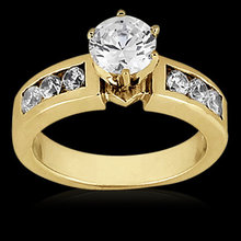 Diamonds G SI1 wedding ring 1.10 carat gold jewelry