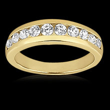 0.65 ct diamonds wedding band gold SPARKLING & NICE