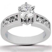 Diamonds G SI1 wedding ring 1.10 carat gold jewelry