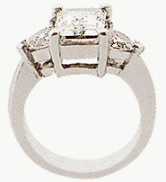 3 STONE DIAMOND RING 0.65 CTS PLATINUM diamond ring