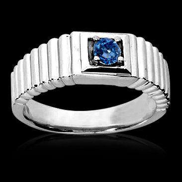 0.65 carat blue diamond ring men's white gold ring new