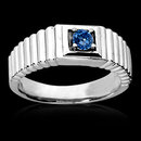 0.65 carat blue diamond ring men's white gold ring new