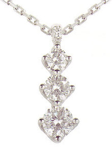 1.01 carats Diamond Trilogy Pendant JOURNEY COLLECTIO