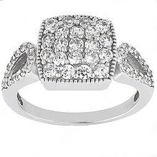 1.20 Ct. diamond wedding ring F VVS1 diamonds gold ring