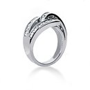 0.84 cts. Diamonds wedding band womens white gold