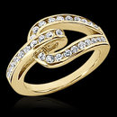 0.84 cts. Diamonds wedding band womens yellow gold ring