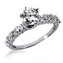 WOW ! 1.30 carat G SI1 diamonds solitaire wedding ring