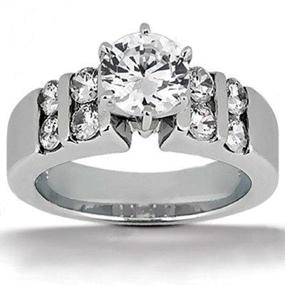 1.30 carat G SI1 diamonds solitaire engagement ring