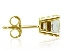 E VVS1 diamond stud earring men single 0.50 ct. earring