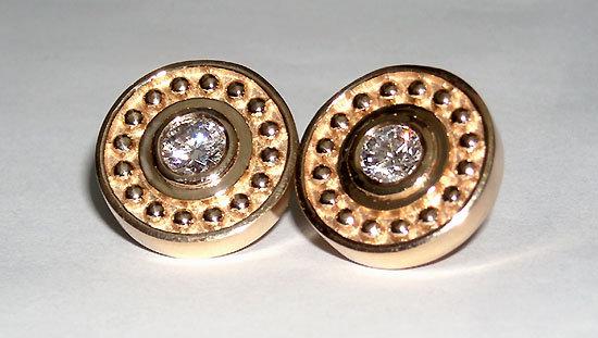 1 carat G SI antique natural DIAMOND STUD EARRING post
