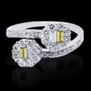 1.20 carat yellow canary baguette diamonds ring gold