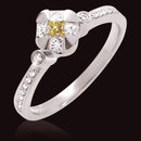 1.25 ct. fancy yellow & white diamonds wedding ring new