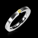 0.40 carats yellow canary diamond solitaire ring band