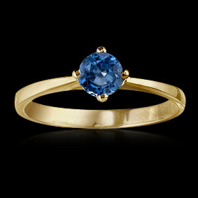 0.75 carat blue diamond solitaire engagement ring new