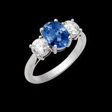 0.70 carat oval cut blue diamonds engagement ring new